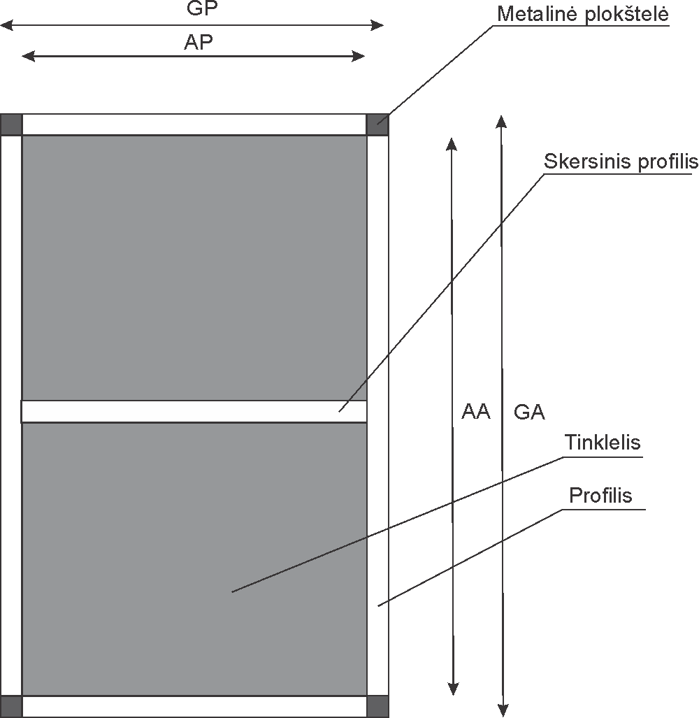 Stacionarus tinklelis tvirtinamas magnetais