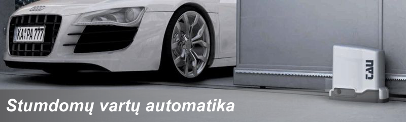 Stumdomų vartų automatika Tau ISVETA